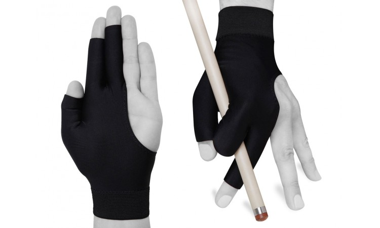 """Бильярдная перчатка """"Fortuna Profi Short"""", черная"""