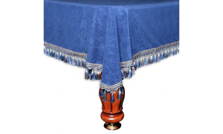 """Покрывало для бильярдного стола """"Венеция"""", велюр синее"""